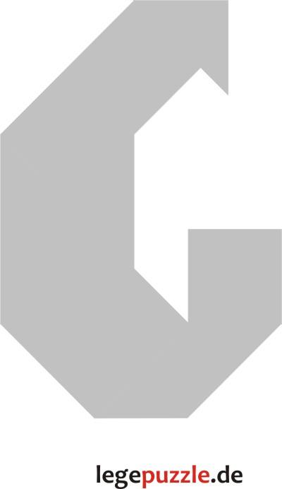 Tangram Vorlage Buchstabe G 3