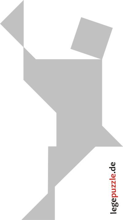 tangram vorlage tänzer 10